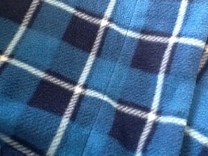 My blue flannel robe...