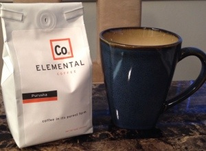 Purusha blend, from Elemental Coffee in OKC
