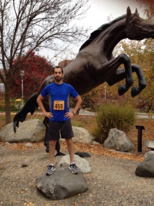 Pre-race:  me and the WMU Bronco