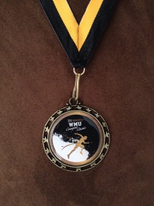My participation medal for the WMU Campus Classic 5k